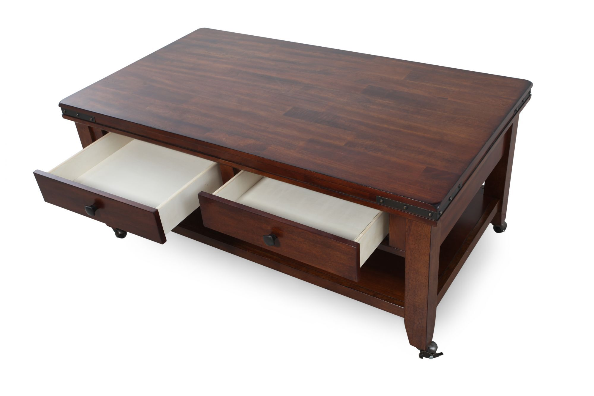 Superbe Two Drawer Solid Wood Coffee Tableu0026nbsp ...