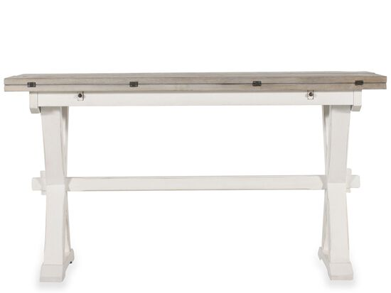 Drop Leaf Country Console Table In White Mathis Brothers
