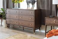 """38"""" Mid-Century Modern Six-Drawer Dresser in Walnut"""