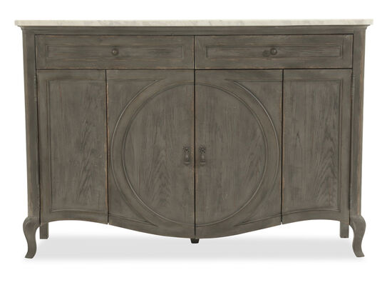 """Two-Drawer 62"""" Credenza in Dark Gray"""