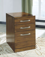Three-Drawer Contemporary File Cabinet in Warm Brown