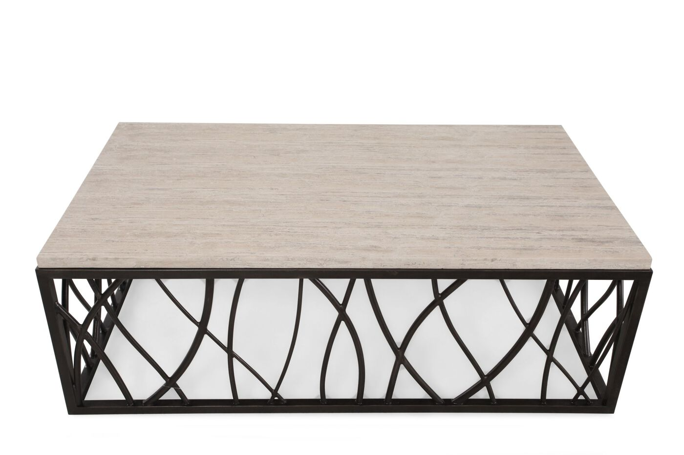 Rectangular Transitional Cocktail Table In Dark Bronze Mathis  ~ Transitional Sofa Tables