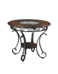 Ashley Glambrey Brown Round Dining Room Counter Table