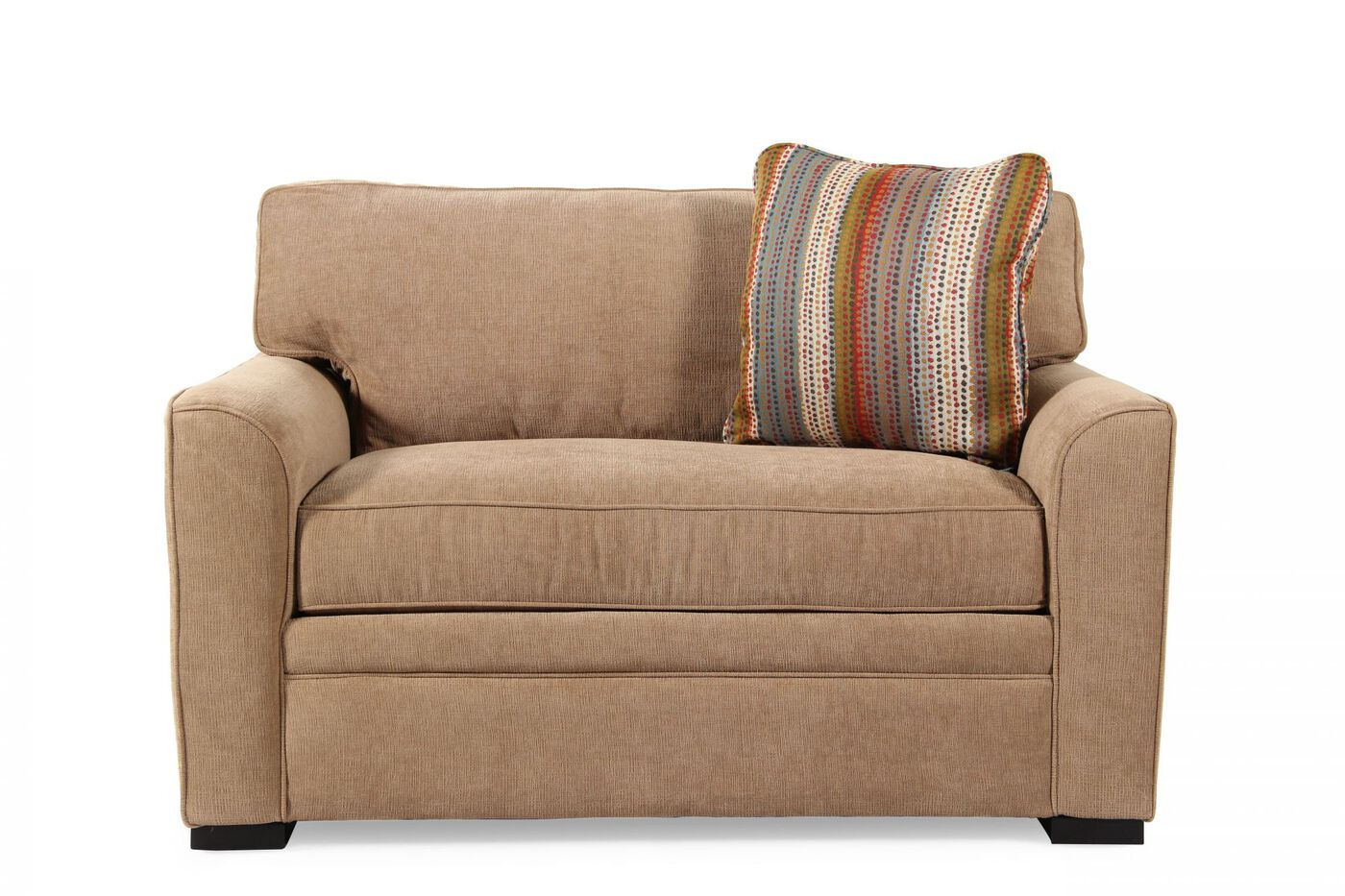 Transitional 75quot sleeper sofa in coffee mathis brothers for Transitional sectional sofa sleeper