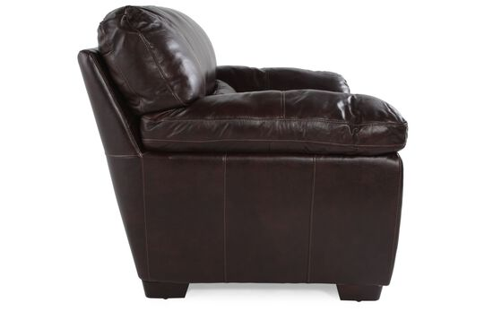 """Contemporary Leather 47"""" Chair in Walnut"""