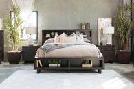 Ashley Parlone Dark Brown King Storage Bed