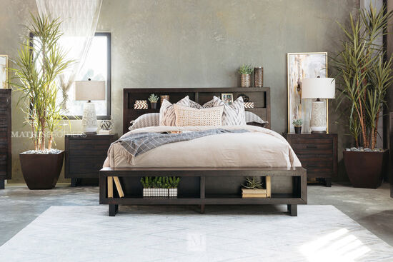 Ashley Parlone Dark Brown California King Storage Bed