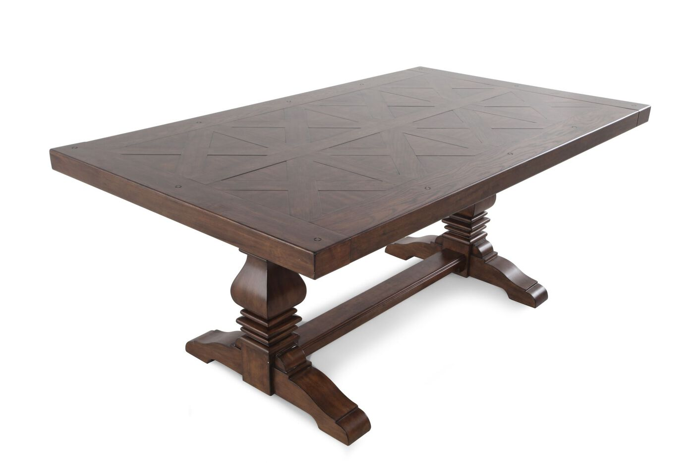 """Traditional 72"""" to 108"""" Double Pedestal Dining Table in"""