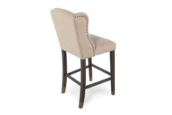 """Casual 46"""" Pair of Bar Stools in Sand"""