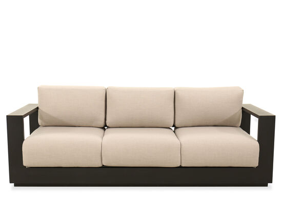 Modern Aluminum Sofa in Black