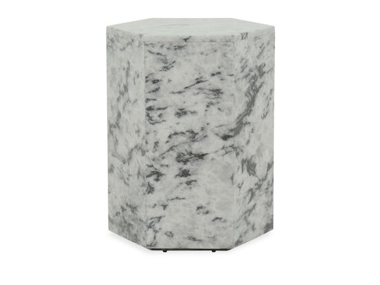 Contemporary Geometric Accent Table in Gray