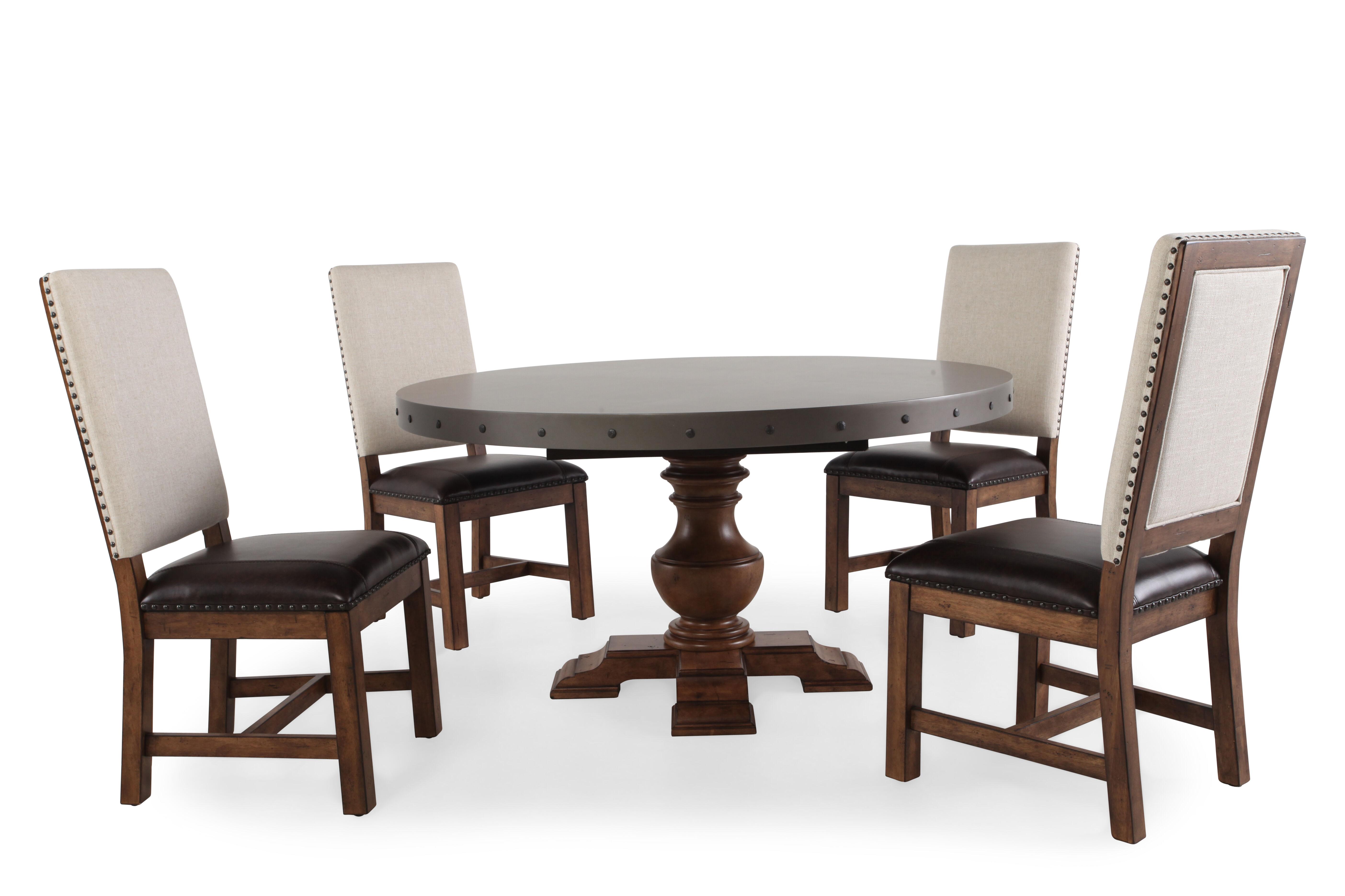 pulaski reddington fivepiece dining table