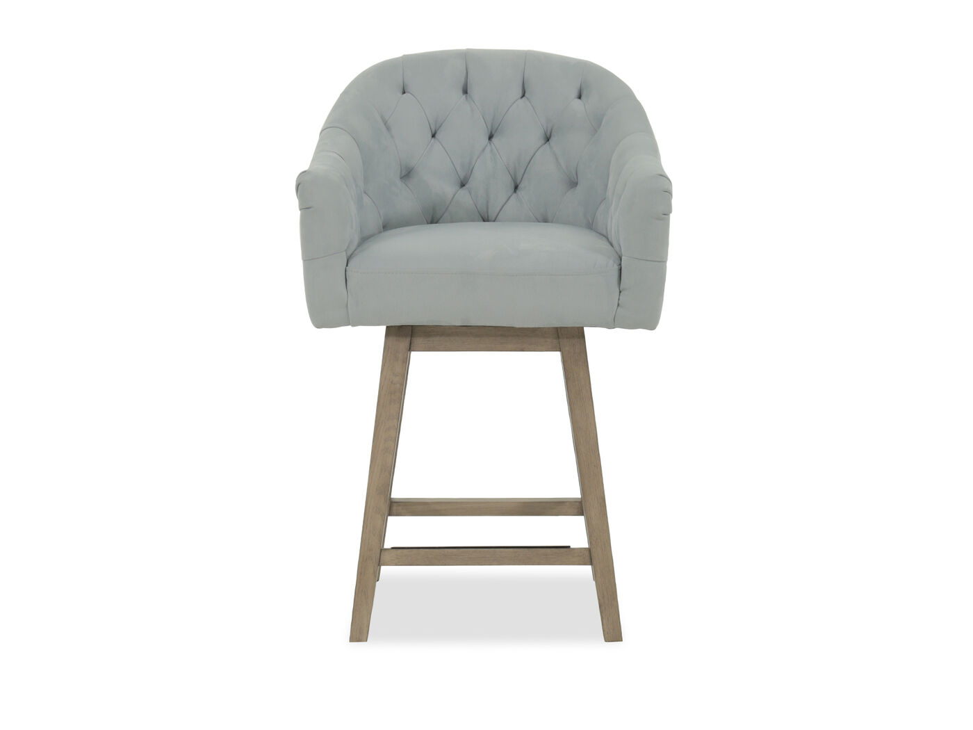 Casual 38 Quot Tufted Bar Stool In Blue Mathis Brothers