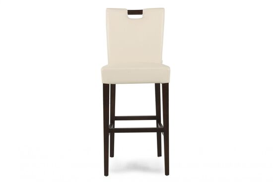 "Contemporary 41"" Bar Stool in White"