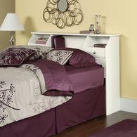 MB Home Malibu Soft White Full/Queen Bookcase Headboard