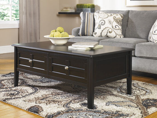 Rectangular Contemporary Cocktail Table in Almost Black