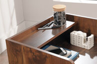 MB Home Fusionville Dark Wood Two-Drawer Stand