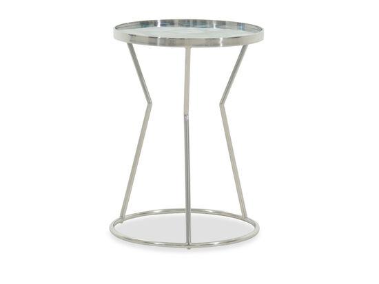 Stone-Top Modern Side Tablein Silver