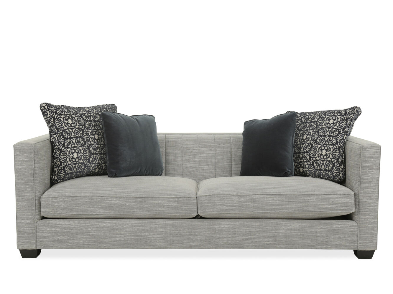 Images Casual Quilted 91 Sofa In Gray