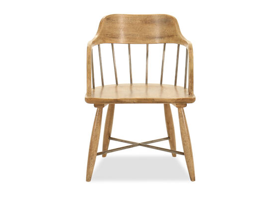 Spindle Back 32'' Arm Chair in Light Maple