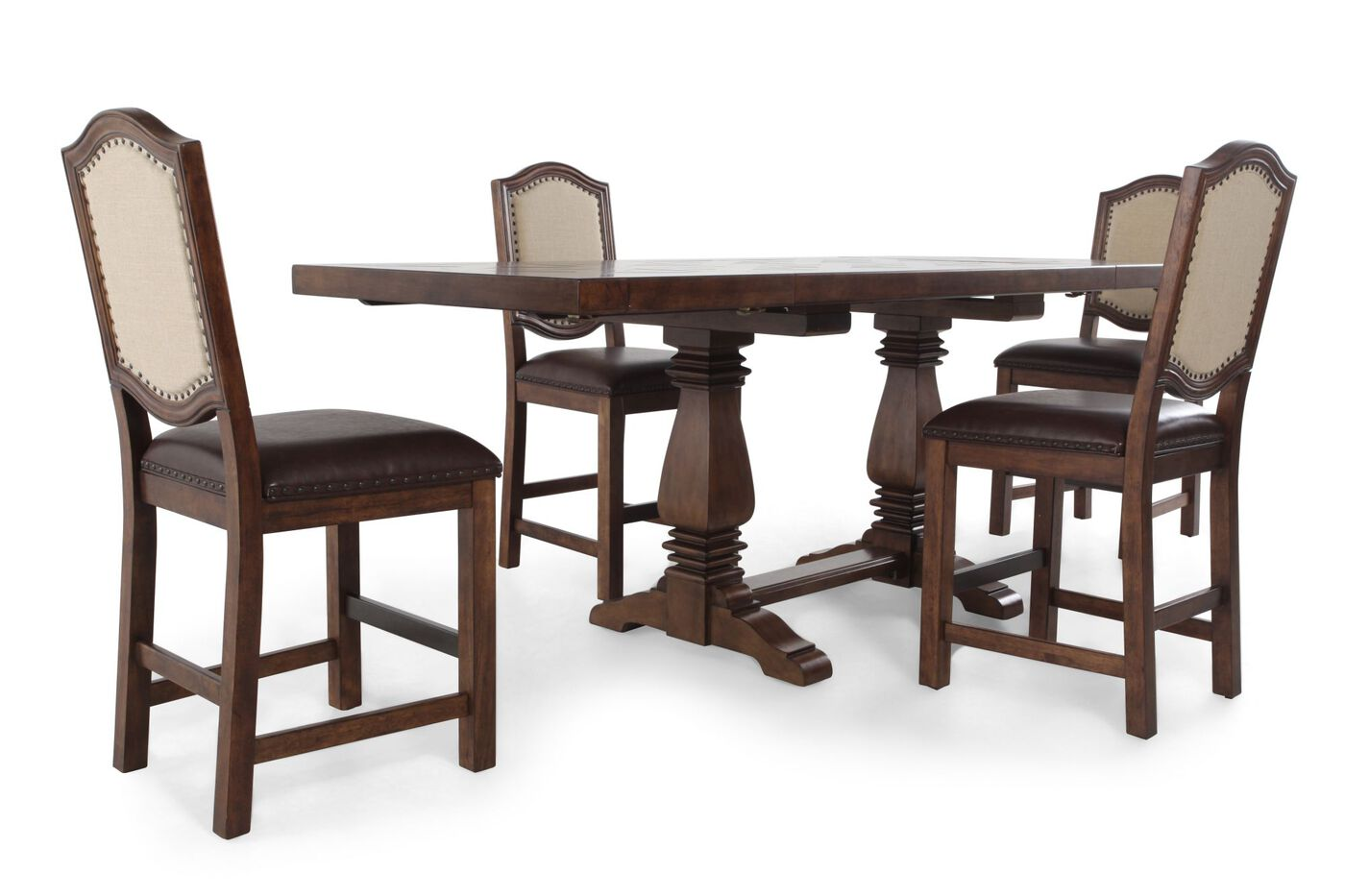 Five Piece Traditional Dining Set In Light Oak Mathis Brothers