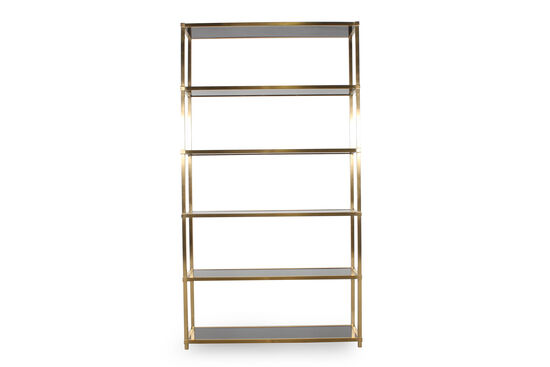 Five-Shelf Steel Etagere in Brass