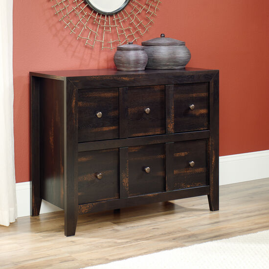Two-Drawer Traditional Console in Char Pine