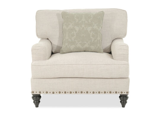 """Textured Traditional 41"""" Chair and a Half in Cream"""