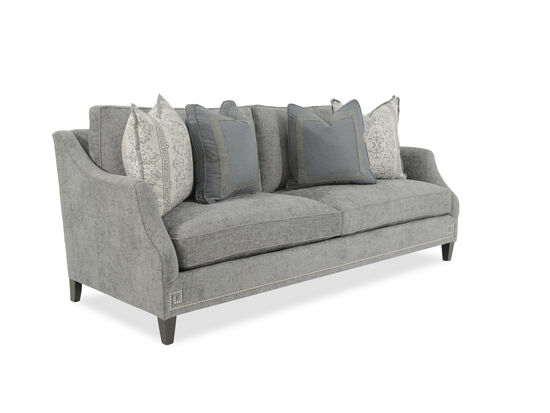 """Nailhead-Accented 89"""" Sofa in Gray"""