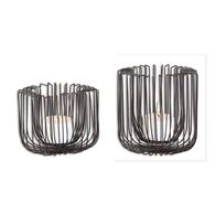 Uttermost Flare Black Wire Candleholders S/2