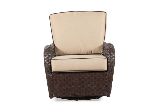 Weather-Resistant Casual Swivel Club Rocker in Beige