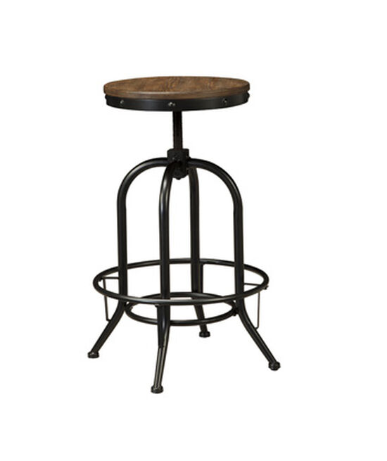 "Casual 30"" Adjustable Swivel Bar Stool in Black"
