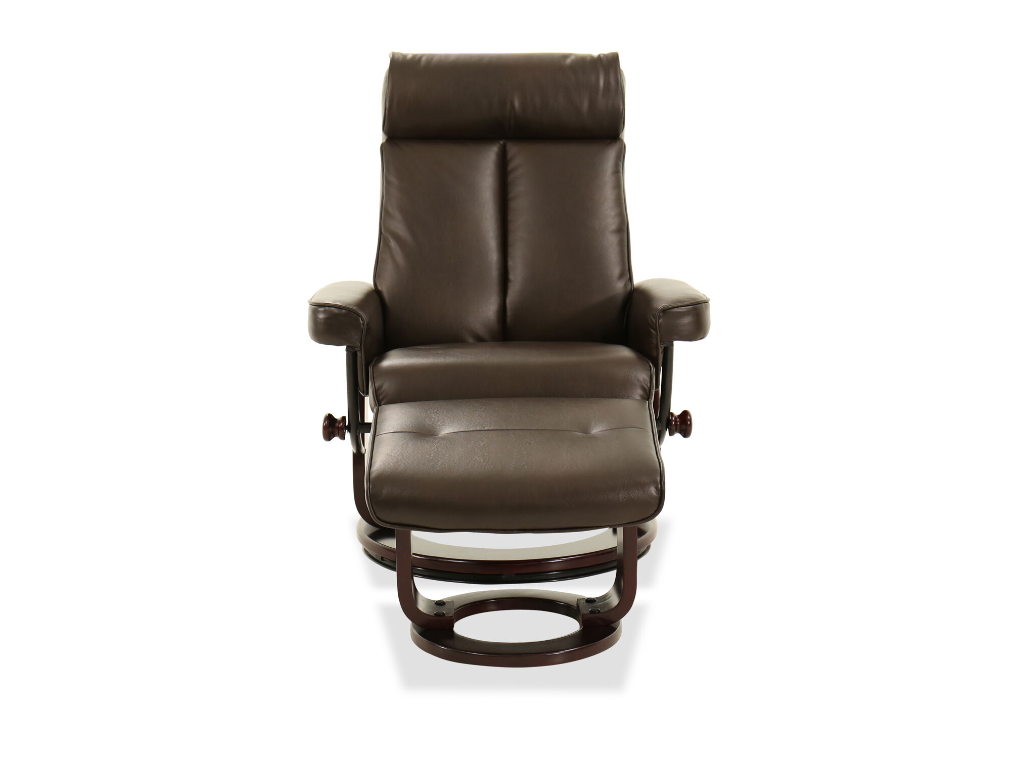 Images Leather Recliner Chair And Ottoman In Brown Leather Recliner Chair  And Ottoman In Brown