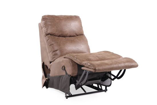"Contemporary 23.5"" Armless Recliner in Brown"