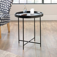MB Home Fusionville Dark Wood Circular Side Table