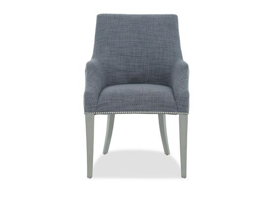 "Nailhead Trim 24"" Dining Arm Chair in Grey"