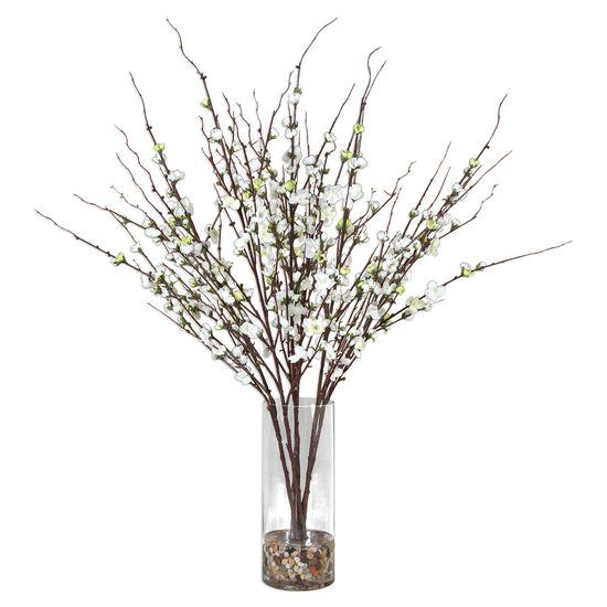 Quince Blossoms Centerpiece Vase