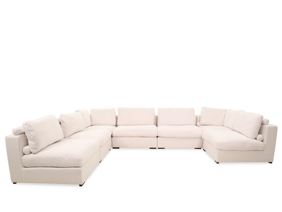 Seven-Piece Contemporary Sectional in White