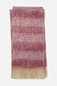 Hand Woven Contemporary Striped Throw in Magenta