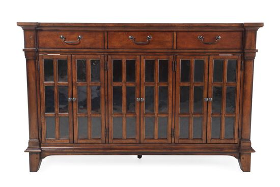 """Contemporary 66"""" Three Drawer Buffet in Brown"""