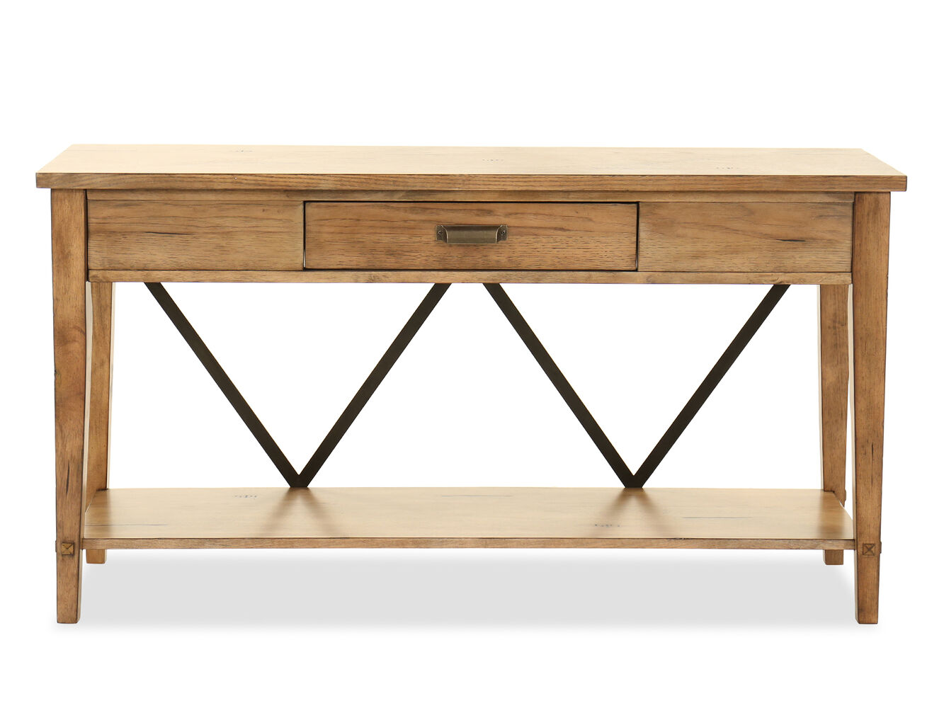 Contemporary one drawer console table in dark brown - Contemporary console tables with drawers ...