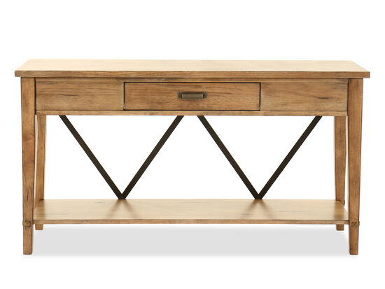 Contemporary One-Drawer Console Table in Dark Brown