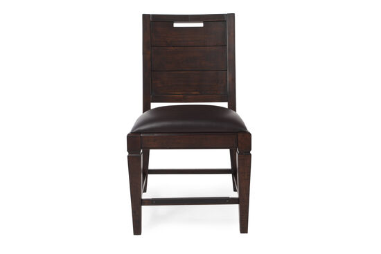 Hand Pull Back 38'' Side Chair in Dark Brown