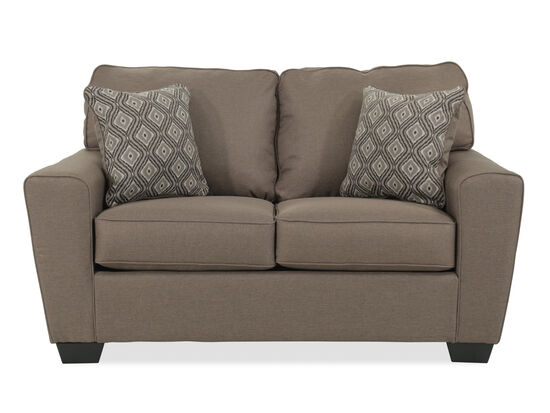 """Contemporary 63"""" Loveseat in Brown"""