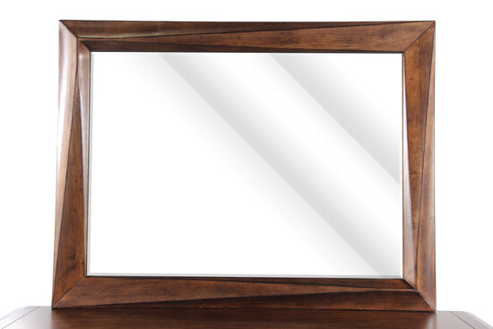 """38"""" Traditional Beveled Accent Mirror in Stippled Brown"""
