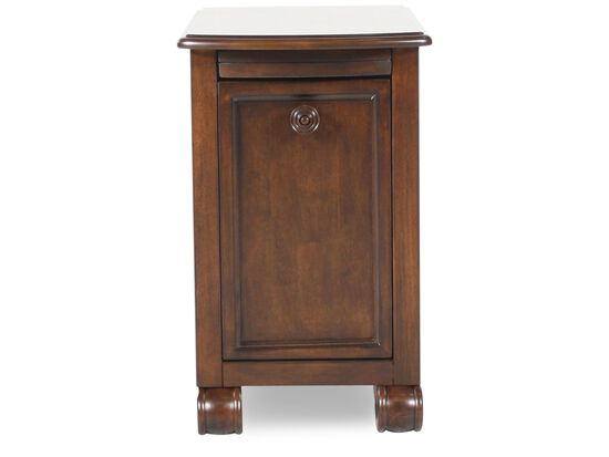 Rectangular Traditional Chairside End Tablein Rustic Brown