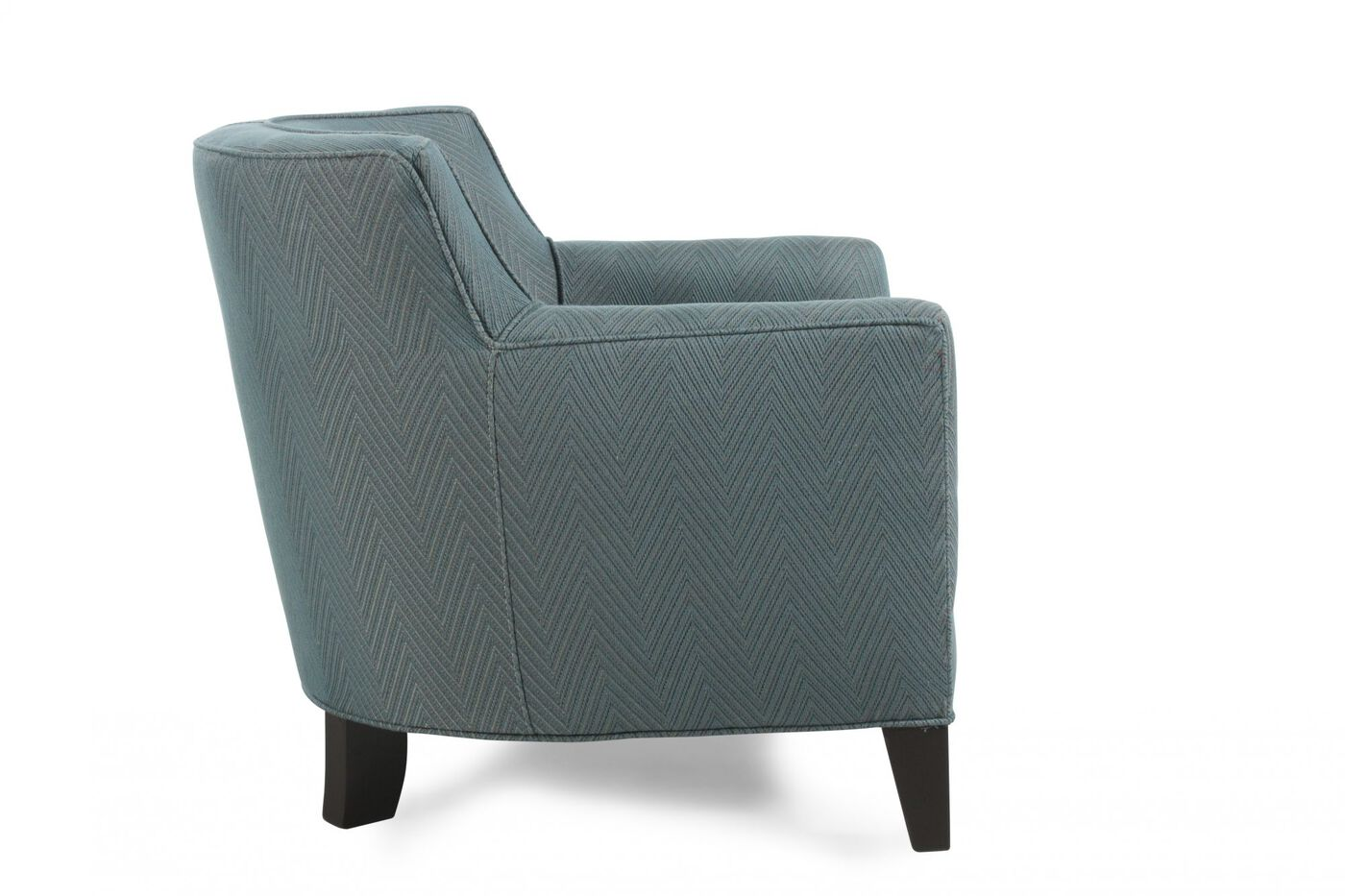 Button Tufted Herringbone Accent Chair In Teal Mathis