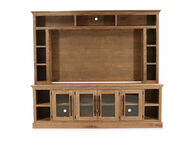 """Two-Piece Casual 97"""" Console and Hutch in Glazed Oak"""