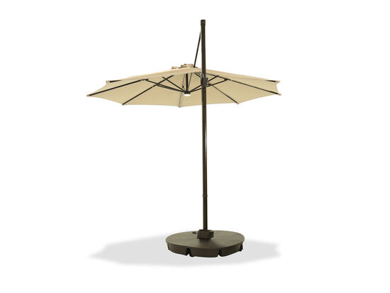 Contemporary Large Cantilever Umbrella in Brown
