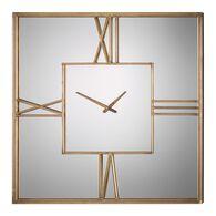 Uttermost Sebastiano Square Mirrored Wall Clock